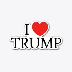 I Heart Trump Merchandise Standard T-Shirt Front
