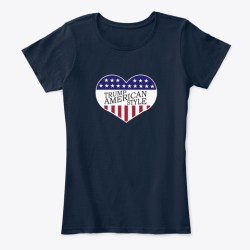 Trump American Style Merchandise New Navy T-Shirt Front