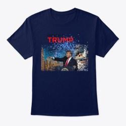Donald Trump Makes A Splash! Navy T-Shirt Front