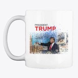 Donald Trump Makes A Splash! White T-Shirt Front