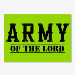 Army Of The Lord Merchandise Lime Green T-Shirt Front