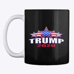 Trump 2020 Merchandise Black T-Shirt Front