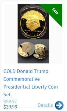 GOLD Donald Trump Commemorative Presidential Liberty Coin Set