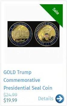 GOLD Trump Commemorative Presidential Seal Coin