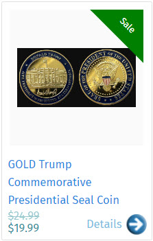 GOLD Trump Commemorative Presidential Seal Coin