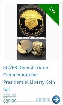 SILVER Donald Trump Commemorative Presidential Liberty Coin Set