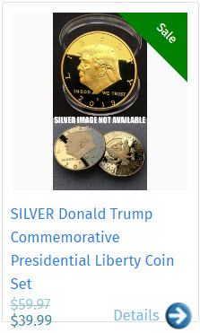 SILVER Donald Trump Commemorative Presidential Liberty Coin Set