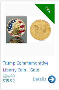 Trump Commemorative Liberty Coin - Gold
