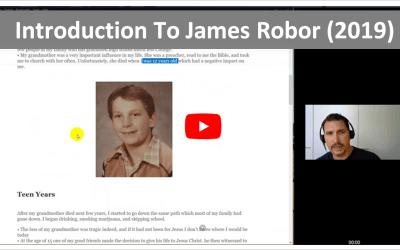 Introduction to James Robor (Aug 2019)