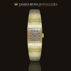 9ct gold ladies Omega bracelet watch circa 1962