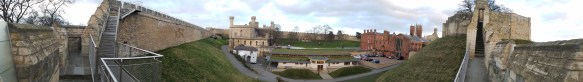 Panorama of the castle grounds.