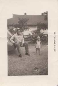 1948, Age 2, with my maternal grandfather James Wesley Woods on Eastland family farm.
