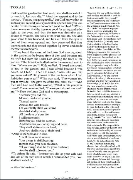 Page of Jewish Study Bible