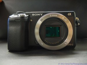 Sony Alpha NEX-6 Front View - without lens attached