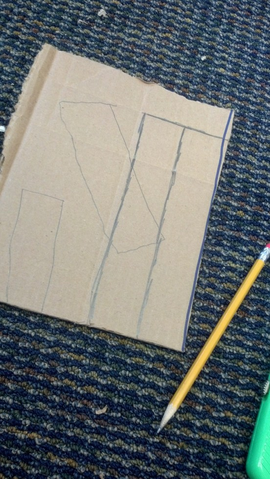 The lighter lines represent cut lines that aren't efficiently placed, while the darker ones are.