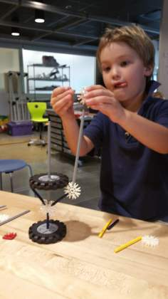 Fitting new pieces together to build an ant tower.