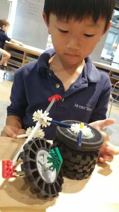 Discovering the features of new materials. *Notice the top wheel is spinning!