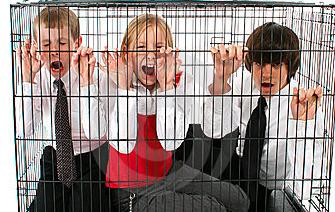 caged children