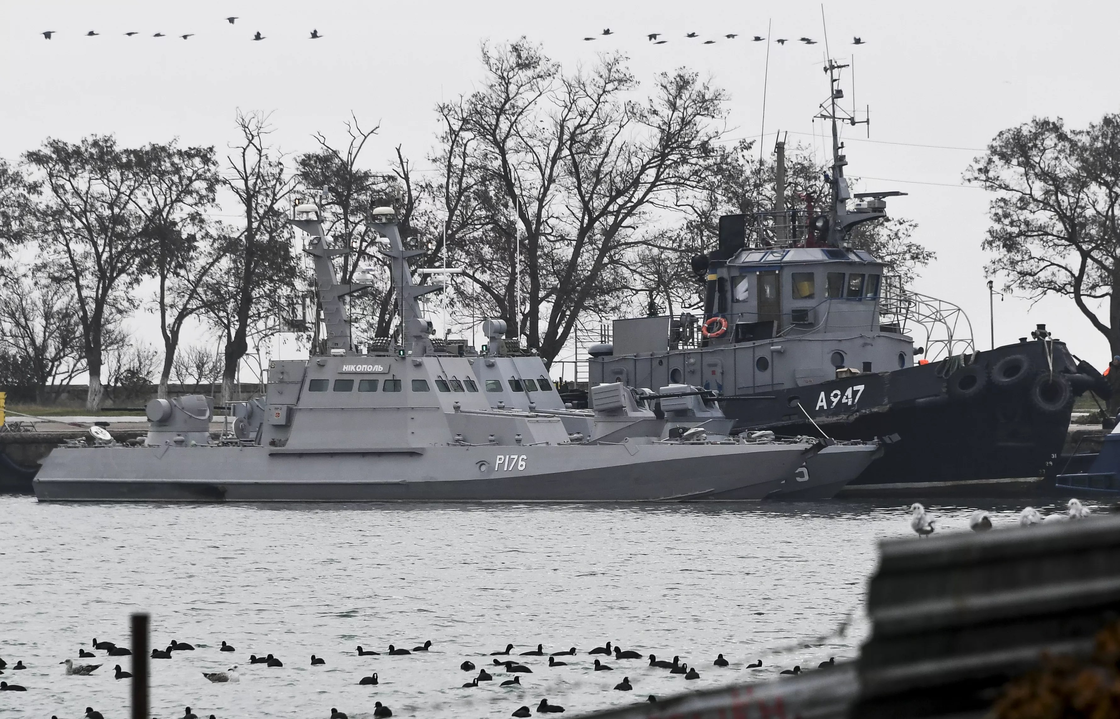 Ukrainian naval vessels seized by Russia in international waters on November 25