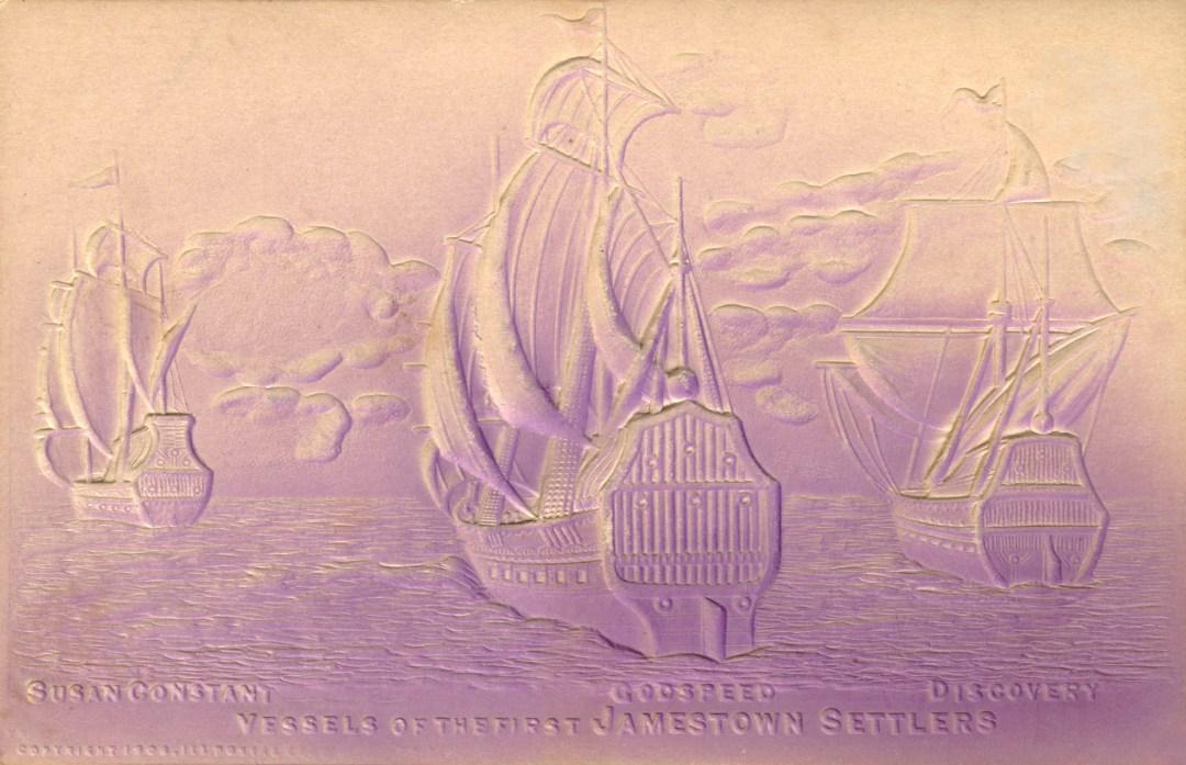 06PCJamestown Exposition00020 - 3-D First Three Ships copy