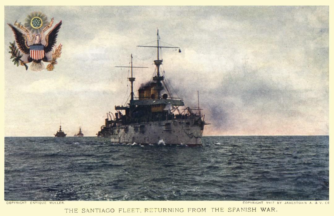 06PCJamestown Exposition00195 - Santiago Fleet returning from Spanish War copy