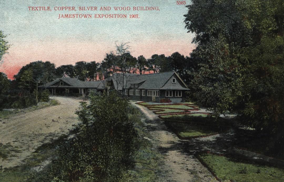 06PCJamestown Exposition00198 - Textile Copper Silver and Wood bldg copy