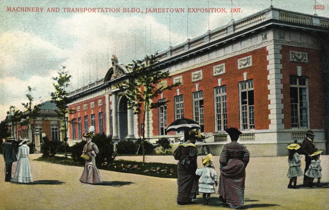 06PCJamestown Exposition00201 - Machinery and Transportation bldg copy
