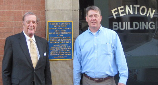 E. Barrett Prettyman, Jr. with Brian Taylor at the Fenton Building