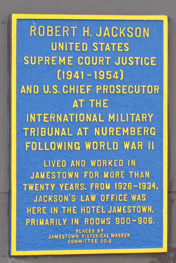 Historic marker placed at the Hotel Jamestown