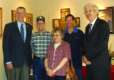 Courtesy photo. From left: County Executive Vince Horrigan, Bob Fralick, Harriett Fralick, Mark Fralick, and NYS Assemblyman Andy Goodell.