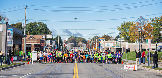 Beginning of the Lucy Town 5K on October 10 in Jamestown, NY