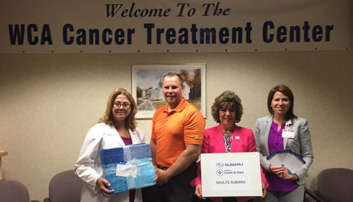 Messages of hope and warmth are delivered to WCA cancer patients.