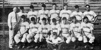 1940 Jamestown Falcons at Allen Park.