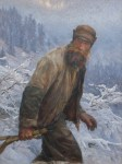 """The Poacher,"" a 1907 painting by Swiss artist Frédéric Rouge, illustrates the secretive attitude of the poacher. (Public Domain.)"