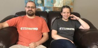 Kyle Zavinski & Lisa Streich-Means, owners of Total Evolution Café and Smoothie Lounge in Warren, PA.