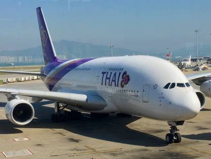 Thai A380 . Hong Kong