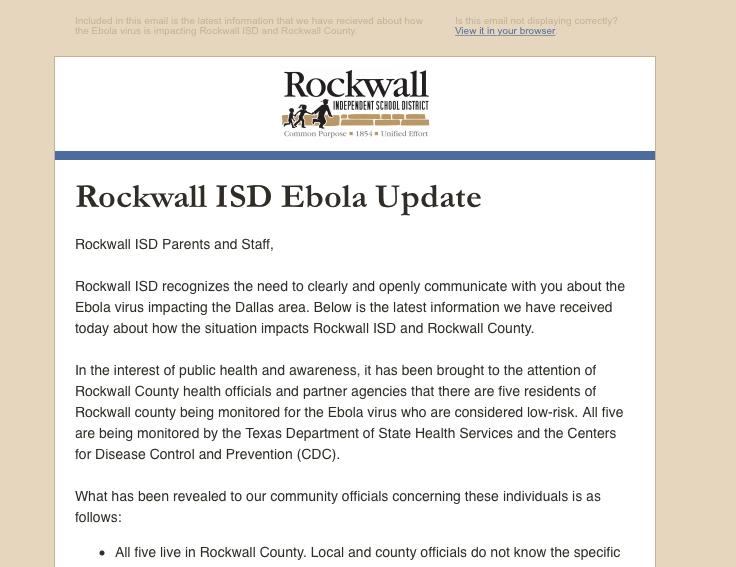 Ebola Notification