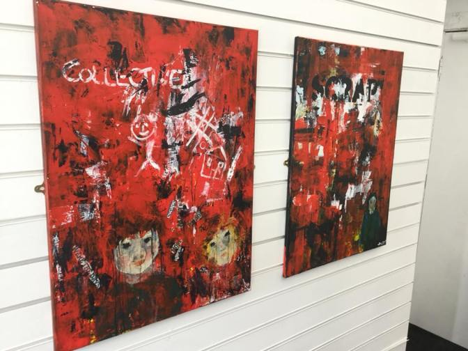 Two pieces by Denise Dowdeswell, exploring the isolating effects of Austerity.
