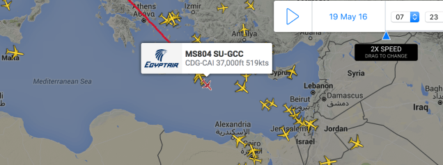 EgyptAir flight MS804 other aircraft 15