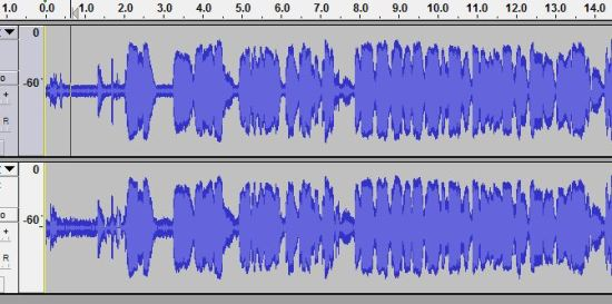 E-Learning Mic Zoom H1 Waveform Noise Reduction Normalize