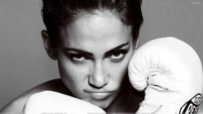 Jennifer Lopez Face Closeup With Boxing Gloves At Mario Testino Photoshoot