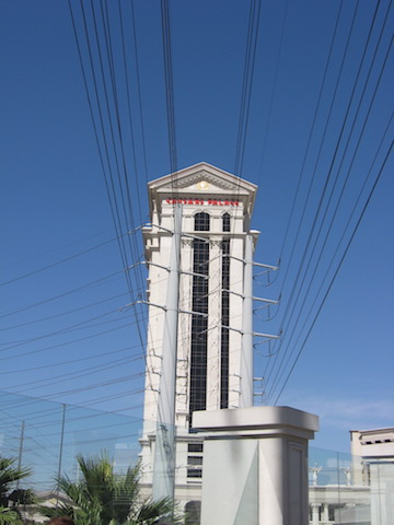 Power lines run everywhere in Vegas to keep the casinos going