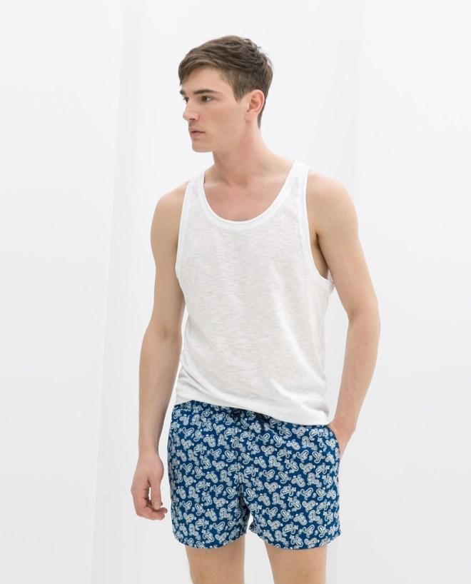 Zara Menswear S/S14 Swimwear Lookbook Zara menswear mensfashion swimwear trunks ss14 mens fashion male model swimwear trunks speedos
