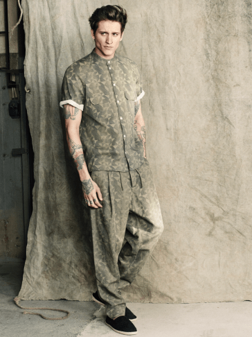 H&M S/S14 Menswsear Lookbook HM man trend camo print shirt camo print trousers