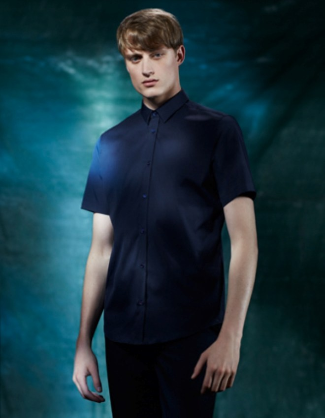 COS Menswear S/S14 Lookbook Update navy blue shirt blue navy formal fitted colour collection