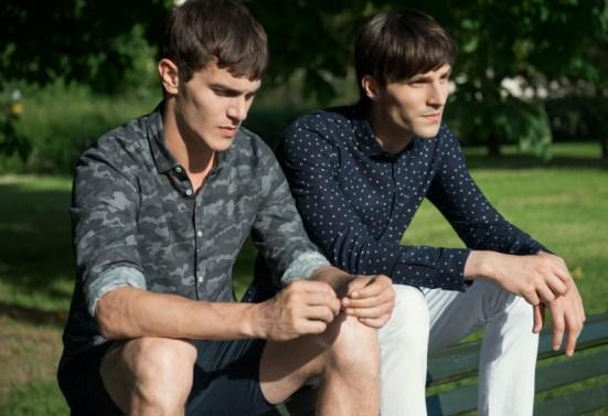 Zara 'Play' Menswear S/S14 Lookbook camo shirt polka dot shirt prints patterns chinos shirts shorts style fashion collection
