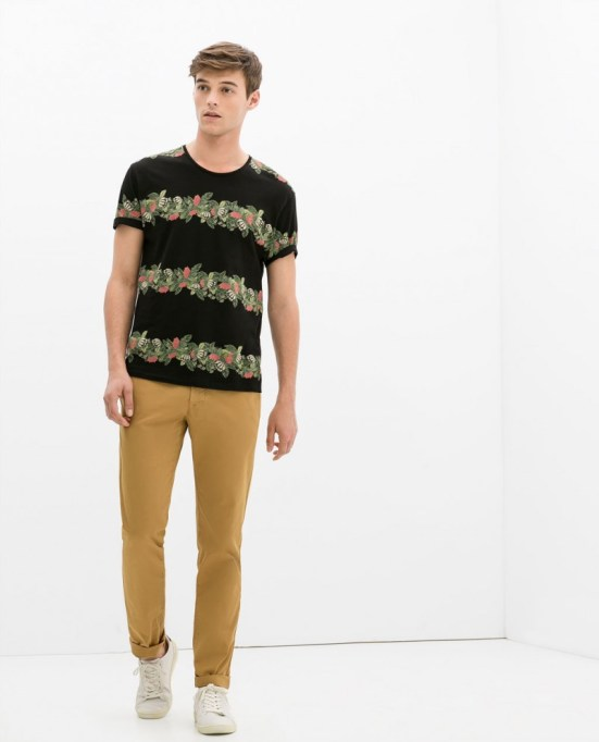 Zara Man S/S14 Lookbook Update. zara casual florals male S/S14 Collection campaign style