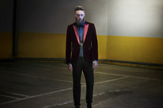Moss Bross Debut Their 'Moss London' AW14 Menswear Collection bearded male model billy huxley