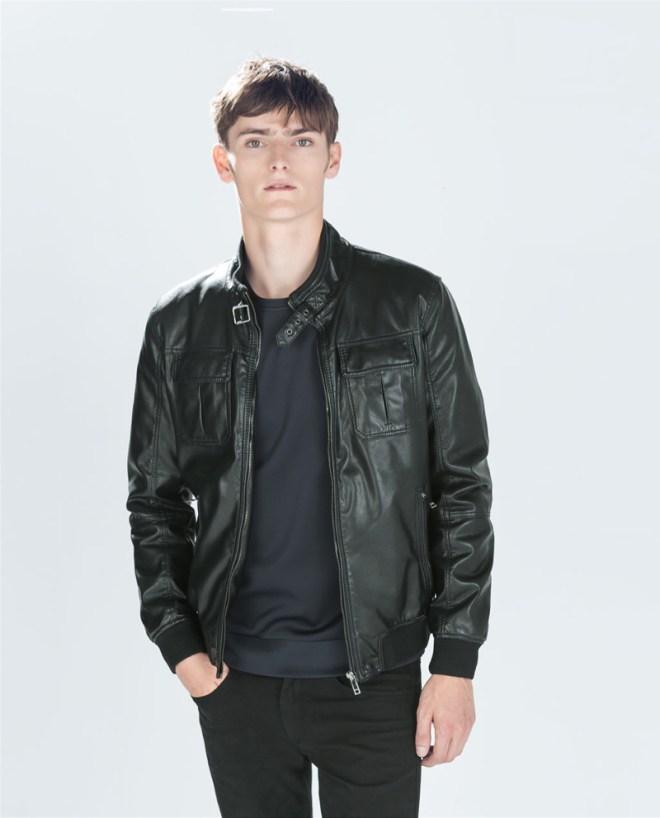 Zara Pre Fall 2014 Menswear Lookbook black leather jacket menswear mensfashion lookbook collection