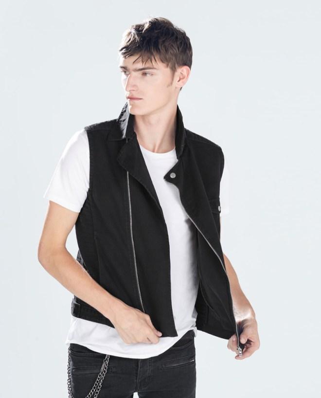 Zara Pre Fall 2014 Menswear Lookbook black waistcoat white shirt menswear mensfashion lookbook collection